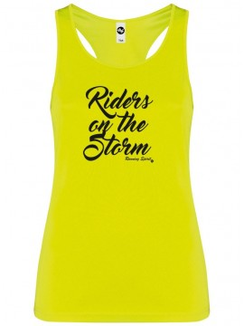 "Camiseta tirantes, mujer ""riders on the storm"""