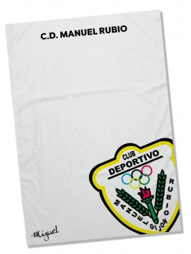 Toalla Microfibra Manuel Rubio personalizada