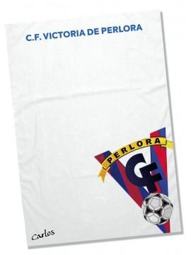 Toalla Microfibra C.F. Victoria de Perlora personalizada