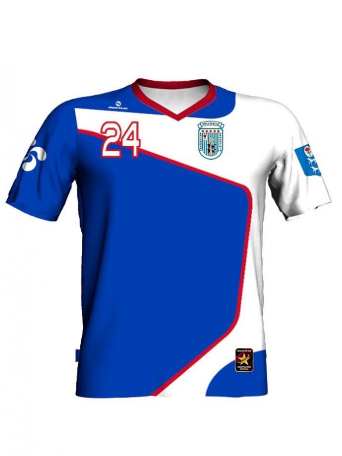 Camiseta de juego Club Balonmano Muskiz primera equipación 8932c201c1853