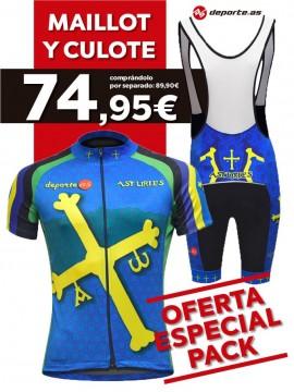 Maillot M/Corta C/Larga Asturias