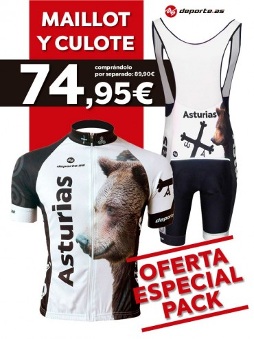 PACK Maillot y culote Asturias Oso