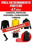 Pack portero personalizado entrenamiento C.D. Ugao