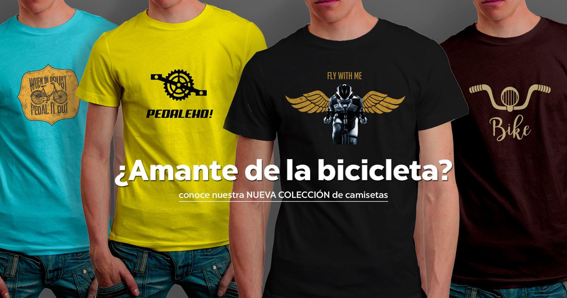 camisetas para amantes de la bicicleta