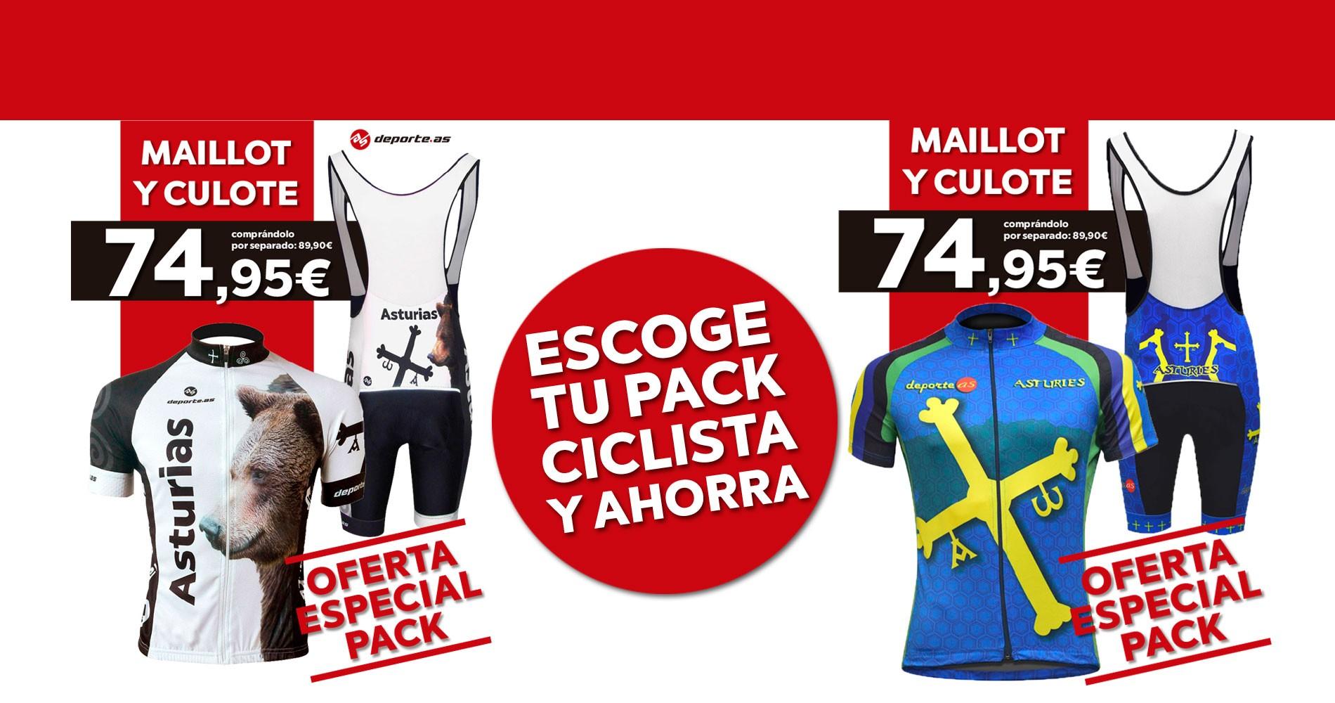 oferta pack ciclista
